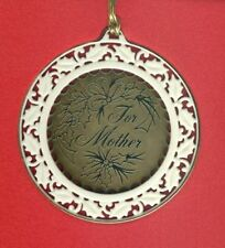 Lenox Fine China & Gold Plated Ornament Inscribed For Mother - Cherished Love