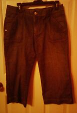 Women's Eddie Bauer Denim Capri Pants Size 10 NWOT Flawless!
