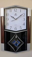 Melodies In Motion Pendulum Wall Clock-6123 White