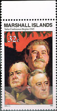 Marshall Isl WW2 Marshall Stalin 1945 Yalta Crimea Conference stamp MNH