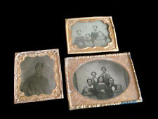 CIVIL WAR 6TH CORPS TINTYPE PHOTO ~ FAMILY X 2 ~ 1 AMBRO