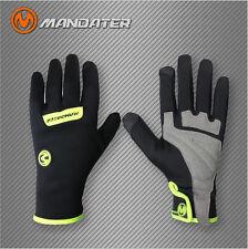 Team Waterproof Winter Shockproof Cycling Bike Bicycle Full Finger Gloves