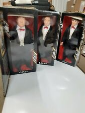 1997 The Three Stooges Collector Dolls Edition Set (3) Complete  NEW IN BOXES