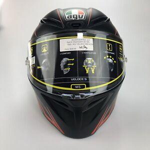 AGV Veloce S Predator DOT Matte Black/Red MS Motorcycle Helmet 21622102HY-001-MS