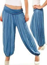 Sexy Miss Damen Stylische Pump Harems Pluder Aladin Sarouel Hose 34/36/38 t blau