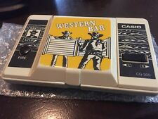Vintage Casio Western Bar CG-300 LCD handheld electronic game 1990