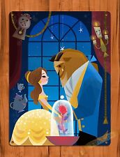 "TIN-UPS Walt Disney Tin Sign ""Beauty And The Beast"" Movie Art Ride Poster"