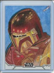 2020 Topps Star Wars Holocron Mandalorian Sketch Marcia Dye Episode 2 The Child