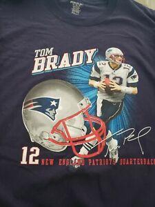 Vtg Reebok Tom brady 12 new England Patriots QB mens t-shirt XL