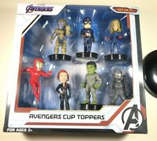Marvel Avengers Endgame Cup Topper-Set of 7. Brand New. Rare COLLECTABLE. Movie!