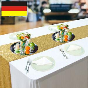Pailletten Tischläufer Tischdeko Hochzeit Weihnachten Neujahr waschbar modern