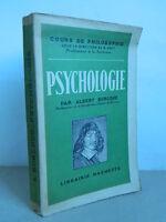 Psicologia por Alfred Burloud - Hachette 1948