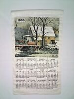 Vintage 1986 The Mill Calendar Dish Tea Towel Size 30 X 17 In