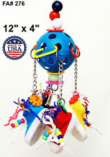 Parrot Bird Toy Four Sneakers with Ball for Lorie Amazon Conure Mini Macaw