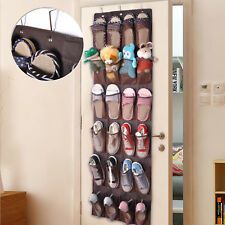 24 Pockets Hanging Holder Over Door Shoe Organiser Storage Rack Tidy Space Saver