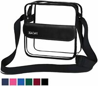 BAGAIL Clear Purse NFL &PGA Approved Cross-Body Shoulder, Black, Size 10.0 l9dq