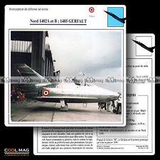#051.20 NORD 1402 A & B, 1405 GERFAUT - Fiche Avion Airplane Card