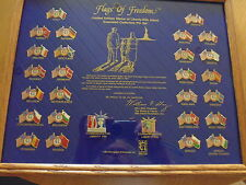 28 COCA COLA FLAGS OF FREEDOM PINS IM RAHMEN