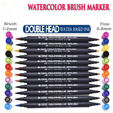 Multicolor Based Art Marker Pens Fineliner Tip Set Drawing STA Dual Brush Water