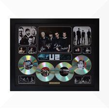U2 Signed & Framed Memorabilia - 4 CD - Black - Limited Edition