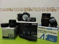 Pentax k5 iis + Tamron 17-50mm F/2.8 XR + Pentax DA 50mm f/1.8 + accesorios