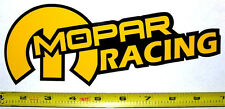 "Mopar Racing! Very Bold! Yellow on Black HQ Vinyl Sticker Decal 9"" x 3.4""!"
