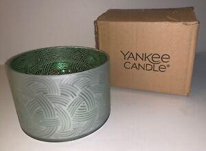 YANKEE CANDLE Celtic Dreams Jar Candle Barrel Shade Glass NWT Boxed Decor Irish