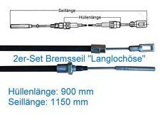 2* Bremsseil Anhänger - Langlochöse - HL 900 mm - für Peitz, Knott, ALKO