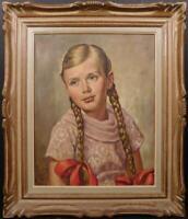 J.Norkus/Lithuanian/American/ oil on canvas, portrait 1962