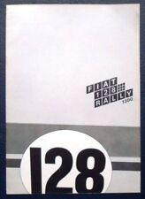 FIAT 128 RALLY 1300 Car Sales Brochure c1971 #3209