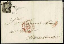1850.Ed:1A.Carta.Isabel II.?-Barcelona.Araña Negra.Marca Fchdr Baeza