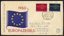 wc027 Netherlands Europa 1960  FDC first day cover