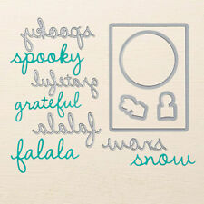 Stampin Up Sizzix Seasonal Frame Thinlits Dies NEW Falala Snow Grateful Spooky