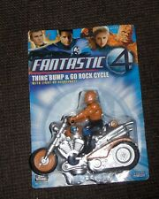 Marvel Fantastic Four The Thing Motorcycle Bump N Go Figure Toy Vehicle Toy Biz