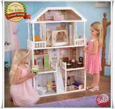 BARBIE SIZE DOLLHOUSE FURNITURE GIRLS PLAYHOUSE DOLL DREAM PLAY HOUSE WOODEN NEW