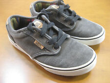 VANS Atwood Canvas Gray/White Youth Size 3.5 - MINT