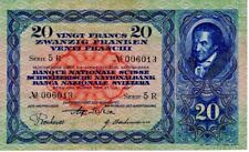 More details for 1931 switzerland 20 franken swiss francs banknote scarce early date p39c aunc