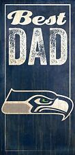 Seattle Seahawks Best Dad Wooden Sign  5 1/2  X 12 NEW