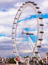 CITYSCAPE LONDON EYE FERRIS WHEEL LARGE POSTER ART PRINT BB3055A