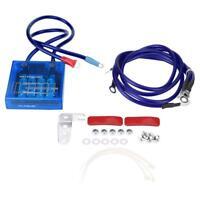 Universal Fuel Saver Voltage Volt Stabilizer Regulator + 3 Earth Grounding Wire