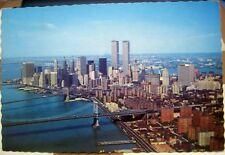 United States Aeriel view Lower Manhattan Skyline - posted 1979