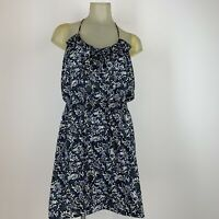Banana republic women's dress size 8 gray black pattern sleeveless