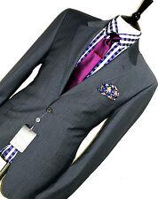 BNWT Da Uomo Paul Smith IL Westbourne London su misura gessato Suit 44R W38