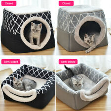 Pet Cat Dog Nest Bed Puppy Soft Warm Cave House  Closed Cat Room Sleeping Mat ^^