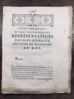 États de Bourgogne en 1776 Élus Généraux des États Du duché de Bourgogne