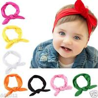 Cute Baby Kids Girls Rabbit Bow Ear Hairband Headband Turban Knot Head Wraps Hot