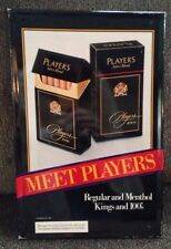 PLAYERS SELECT BLEND CIGARETTE TIN METAL SIGN 1983