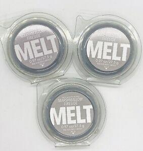 3-Pack Bath & Body Works MARSHMALLOW FIRESIDE Fragrance Wax Melt 0.97 oz Each