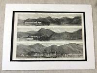 1853 Print The Dardanelles Turkey Turkish Landscape Original Antique