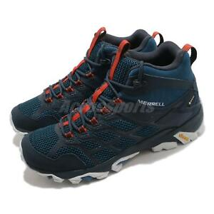 Merrell Moab FST 2 Mid GTX Gore-Tex Blue Orange Men Outdoor Hiking Shoe ML500119
